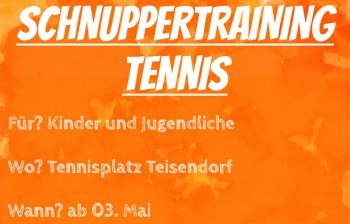 Schnuppertraining Tennis